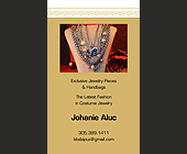 Exclusive Jewelry Pieces and Handbags - 2.25x3.75 graphic design