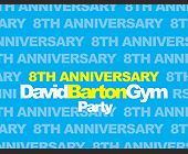 David Barton Gym Party - 1275x1650 graphic design