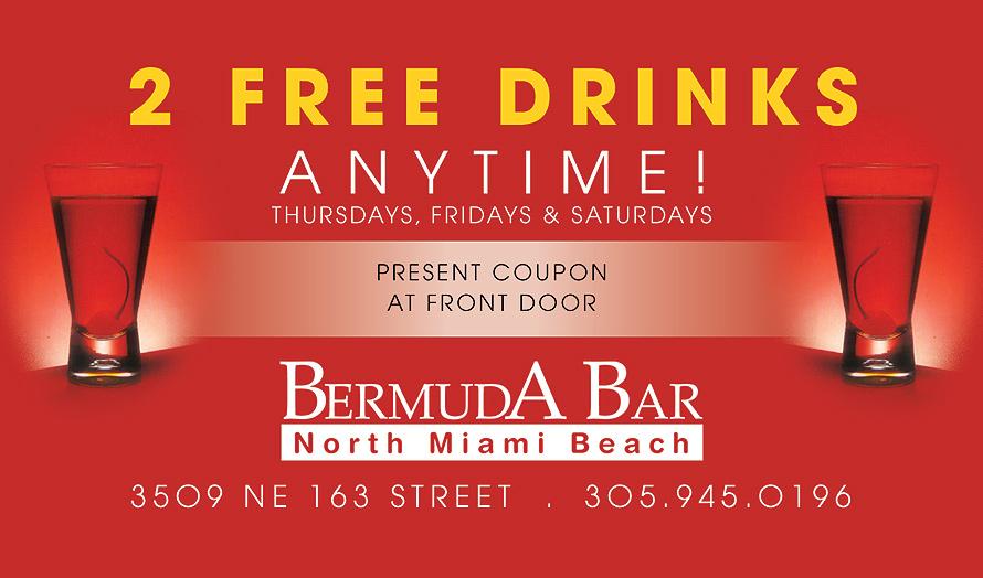Bermuda Bar Two Free Drinks