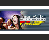 In The Biz First Drink Free - Bermuda Bar Graphic Designs
