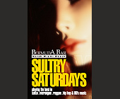 Sultry Saturdays  - Reggae Graphic Designs