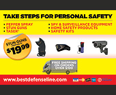 Take Steps for Personal Safety - 1375x2125 graphic design