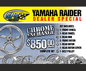 Yamaha Raider Dealer Special  - Miami Graphic Designs