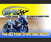 Sport Bike Chrome Plating  - Miami Graphic Designs