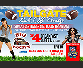 Big Woody's Tailgate Kickoff Party  - 1800x1200 graphic design