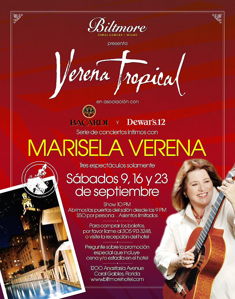 Marisela Verena Intimate Concert Series
