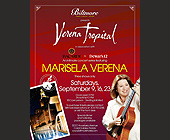 Marisela Verena Intimate Concert Series  - tagged with three shows only
