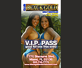 Club Black Gold VIP Pass - Black Gold Adult Club Graphic Designs