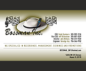 Bassman Inc. - Business Cards Graphic Designs
