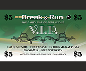 The Party Bar of Fort Wayne VIP - 2.25x3.75 graphic design