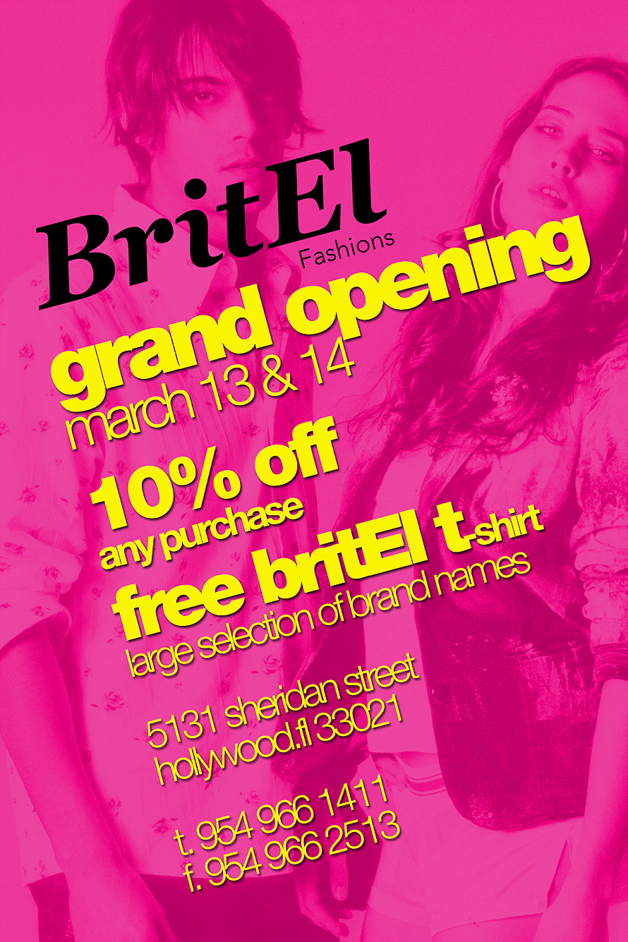 BritEl Fashions Grand Opening