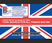Largest British Database in Florida  - 1500x1000 graphic design
