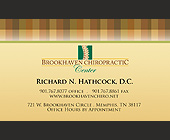 Brookhaven Chiropractic Appointment - Business Cards Graphic Designs