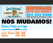 Broward Auto Tag Agency - Professional Services Graphic Designs