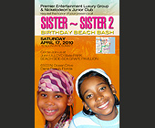 Sister Sister Two Birthday Beach Bash - 1500x1000 graphic design