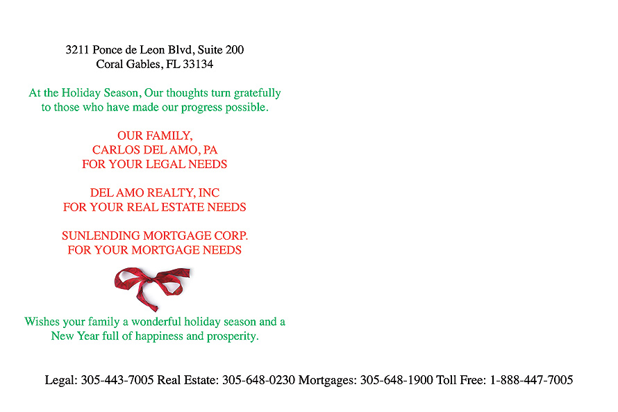 Real Estate Seasons Greetings