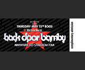 Subliminal Sessions Backdoor Bamby - tagged with complimentary admission