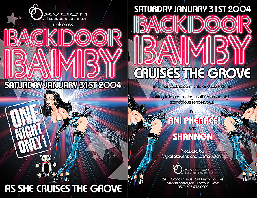 Backdoor Bamby at Oxygen Lounge and Sushi Bar