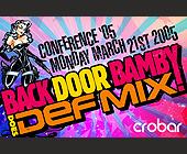 Back Door Bamby Conference  - 1375x2125 graphic design