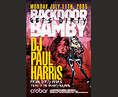 Back Door Bamby Gets Dirty  - Nightclub Graphic Designs