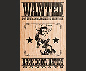Backdoor Bamby at Crobar - Adult Entertainment Graphic Designs