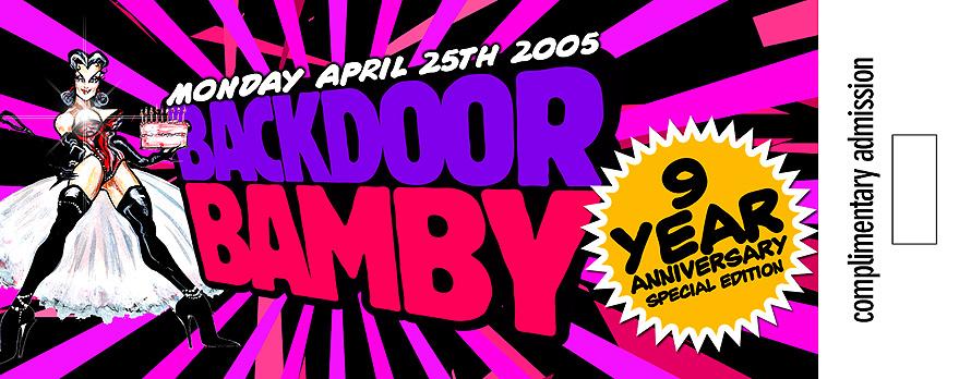 Back Door Bamby Nine Year Anniversary