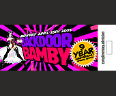 Back Door Bamby Nine Year Anniversary  - Nightclub Graphic Designs