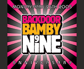 Back Door Bamby Nine  - 1050x1050 graphic design