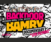 Back Door Bamby Documentary  - Nightclub Graphic Designs