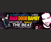 Back Door Bamby - Nightclub Graphic Designs