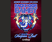 Back Door Bamby Scorpion Ball  - Nightclub Graphic Designs