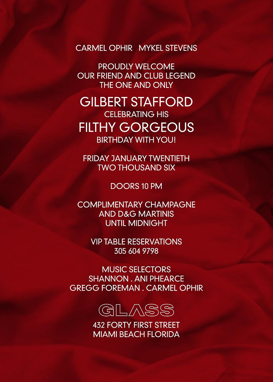 Gilbert Stafford at Glass Nightclub