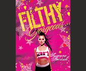 Carmel Filthy at Glass Nightclub - 2125x2750 graphic design