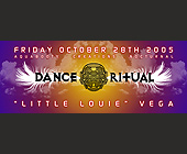 Dance Ritual with Little Louie Vega - Nightclub Graphic Designs