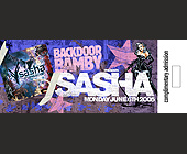 Backdoor Bamby Sasha  - Nightclub Graphic Designs
