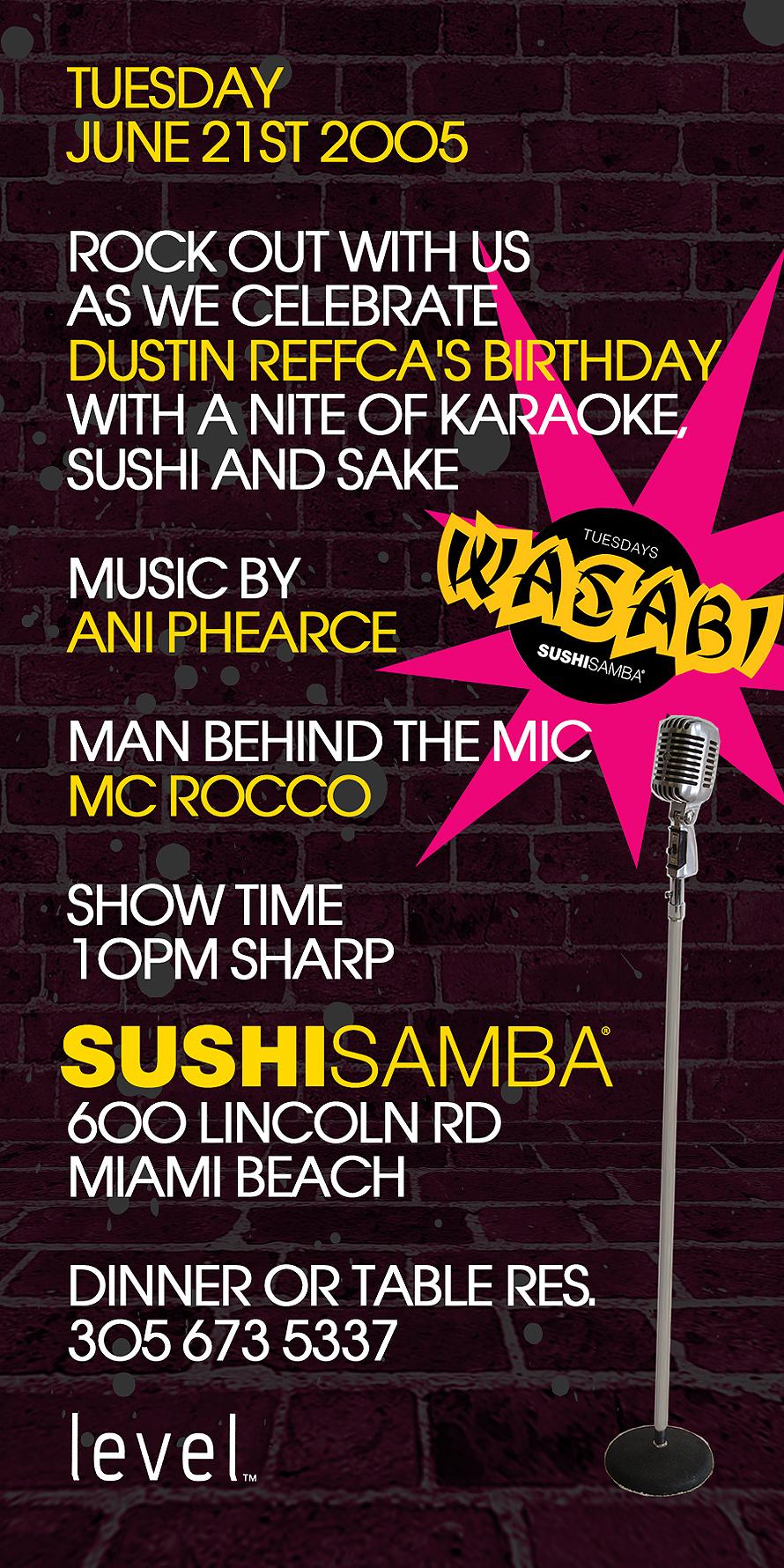 Sushi Samba Glann Rock