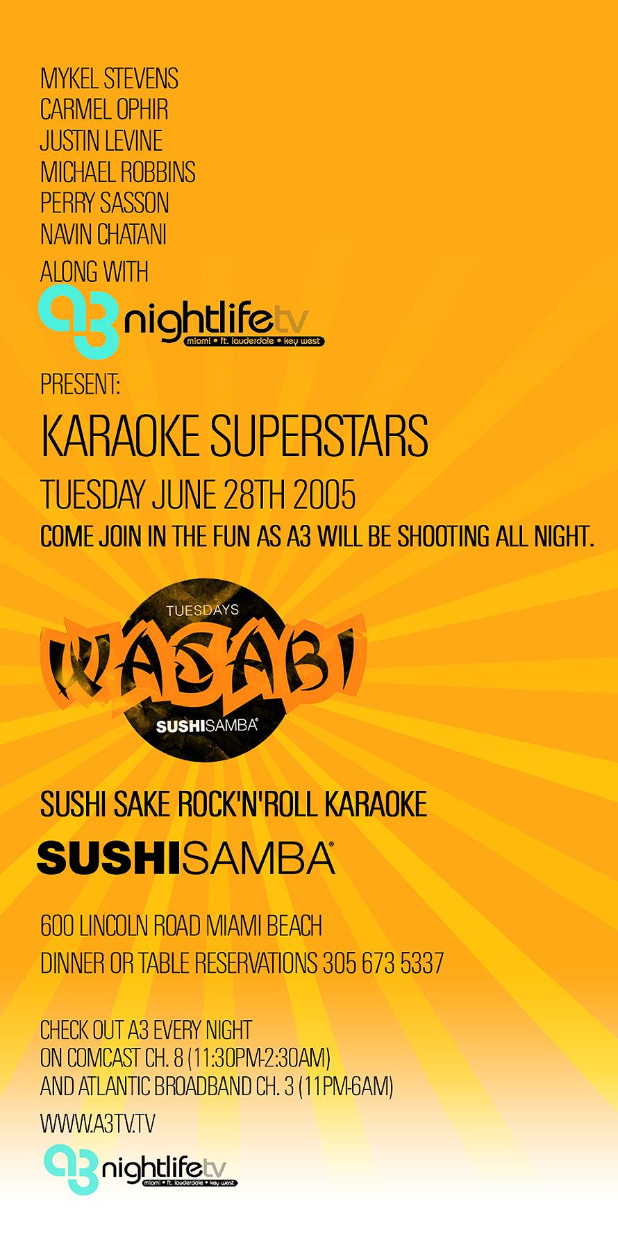Sushi Samba Wasabi Karaoke