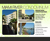 MIami River Condominium  - tagged with dock