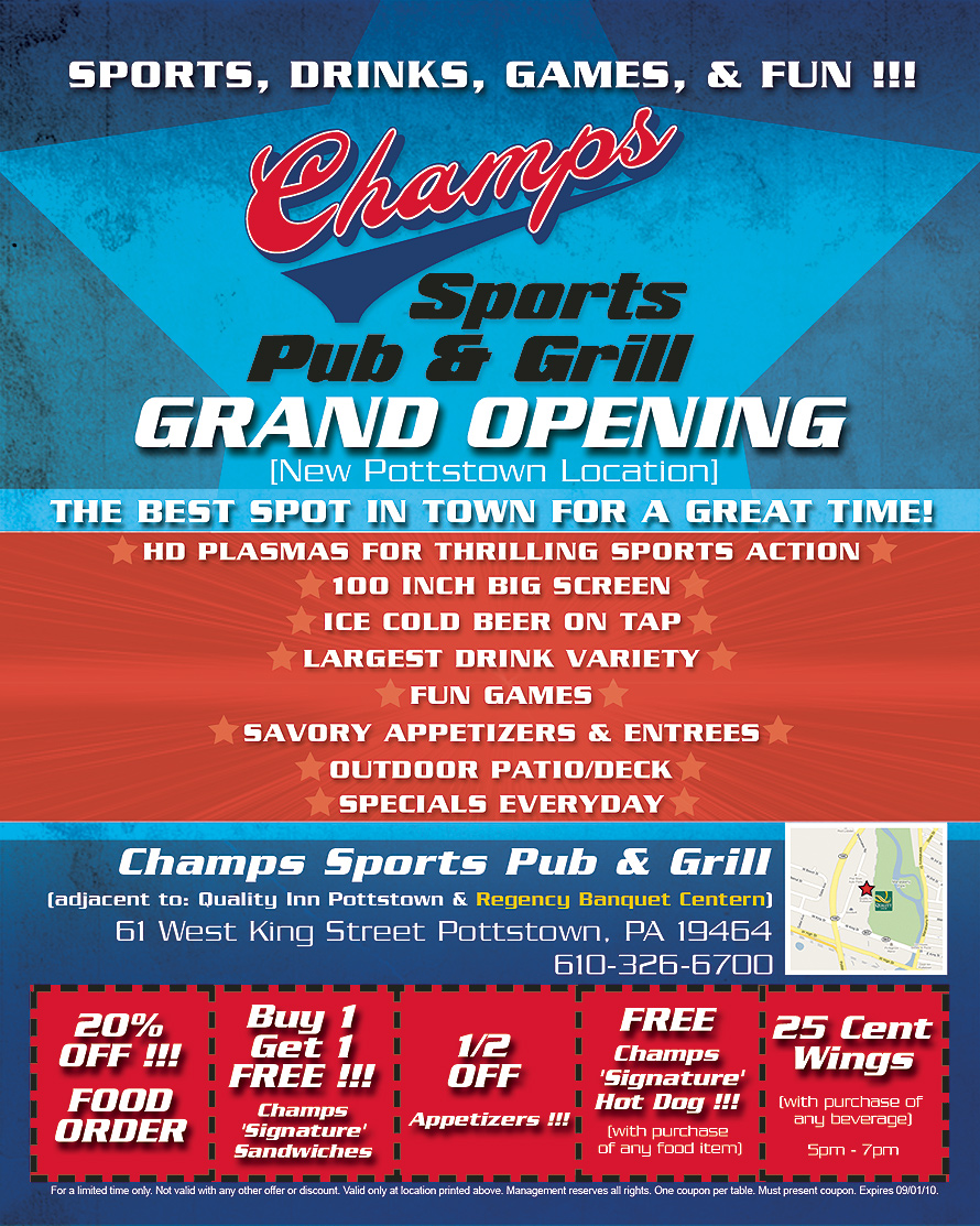 Champs Sports Pub and Grill Grand Opening