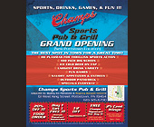 Champs Sports Pub and Grill Grand Opening - Restaurants Graphic Designs