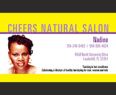 Cheers Natural Salon Nadine  - Fashion Graphic Designs