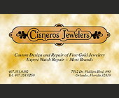 Cisneros Jewelry  - 3.65x2.15 graphic design