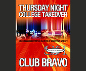 Thursday Night College Takeover - 4.25x5.5 graphic design