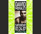 David Morales at Mynt Lounge - 1500x2100 graphic design