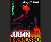 Julian Ingrosso at Mynt Lounge - 1500x2100 graphic design