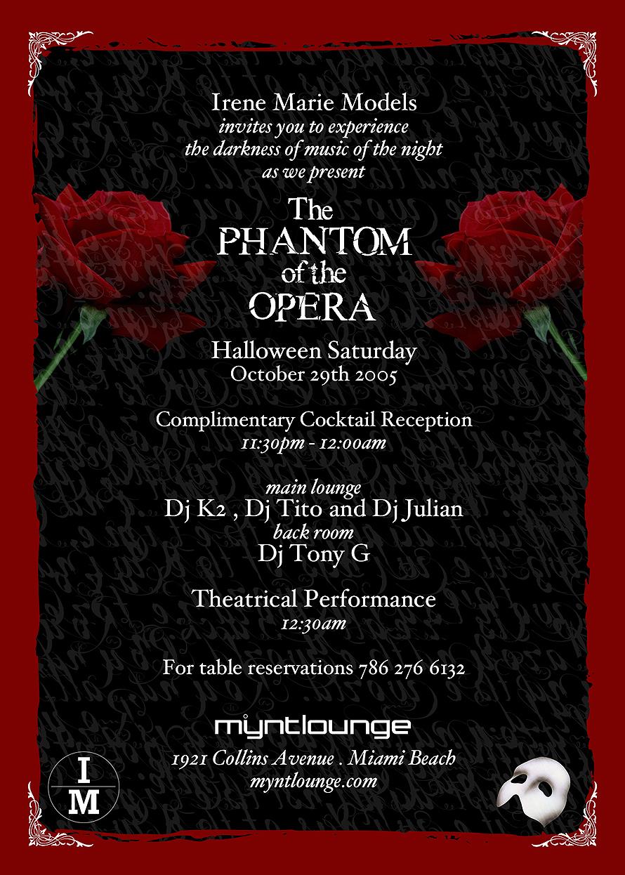 Mynt Lounge The Phantom of the Opera