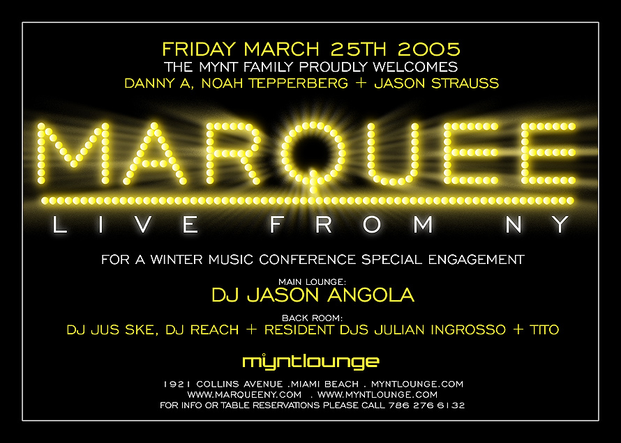 Marquee Live from New York