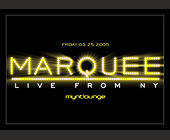 Marquee Live from New York - tagged with v