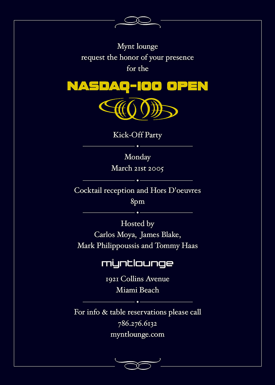 Mynt Lounge  NASDAQ-100 Kick Off Party
