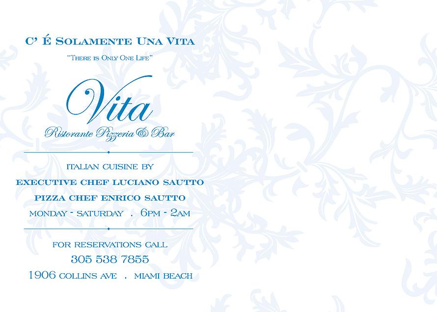 Vita Ristorante, Pizzeria and Bar